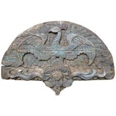 Primitive Wood American Folk Art Carvings from Circus Wagon