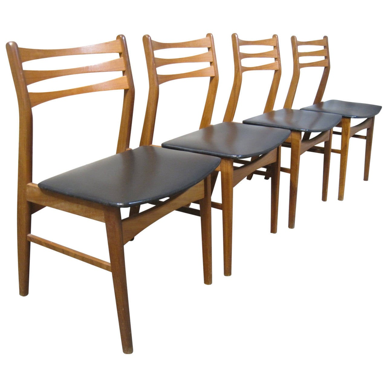 Set Of Four Findahls Møbelfabrik Danish Teak Dining Chairs