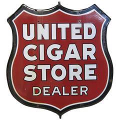 United Cigar Store Porcelain Sign, Tobacco