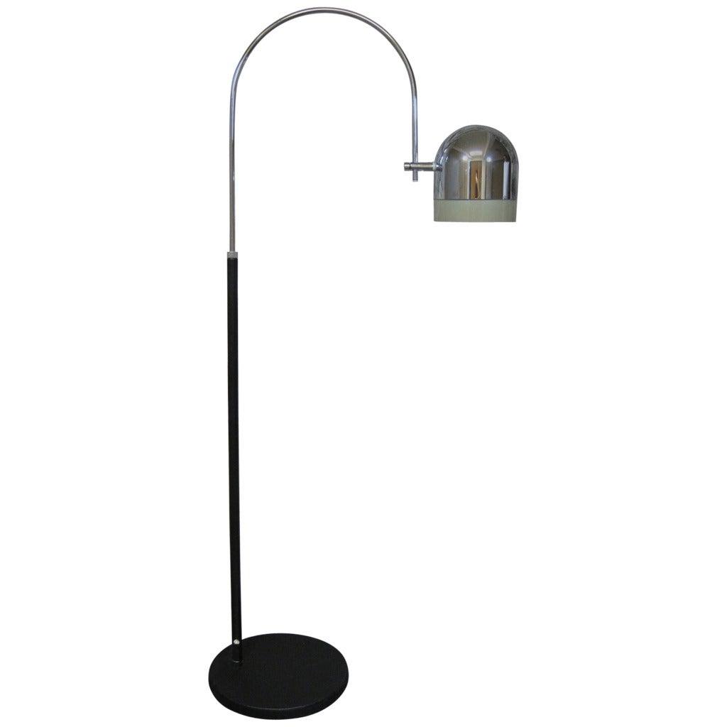 mid century modern arc floor lamp at 1stdibs. Black Bedroom Furniture Sets. Home Design Ideas