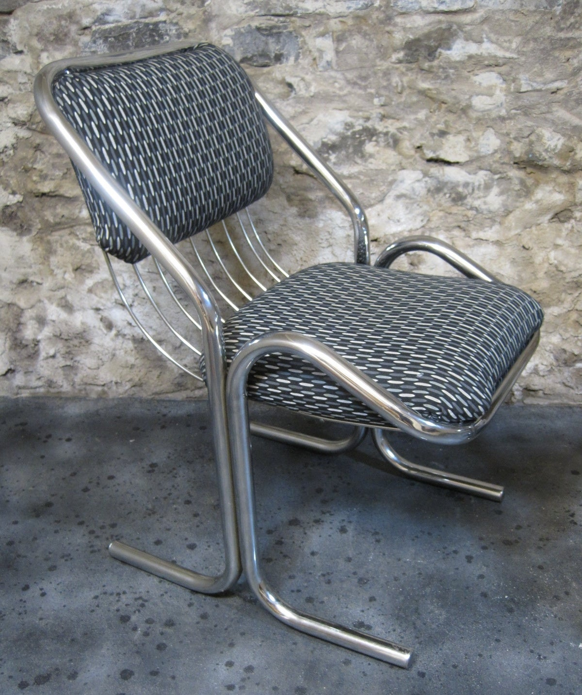 Two Mid-Century Modern Chrome Chairs 2