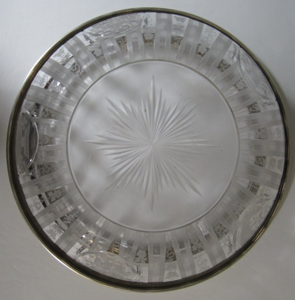 Shreve And Company American Sterling Silver And Etched