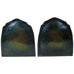 Carl Sorensen American Bookends, Hammered Copper Metalwork
