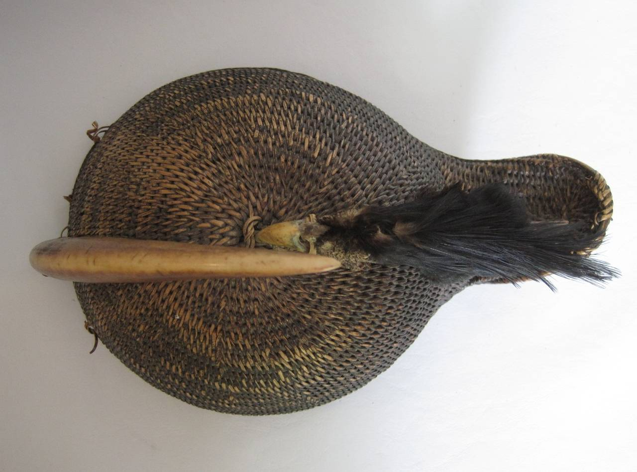 19th Century Indian Nyishi Warrior Hornbill Tribal Hat, circa 1890 For Sale