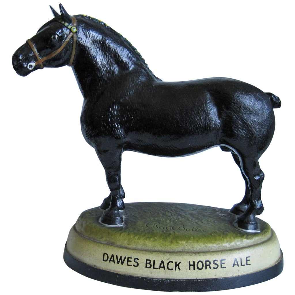 Ross Butler For Dawes Black Horse Ale Horse Sculpture