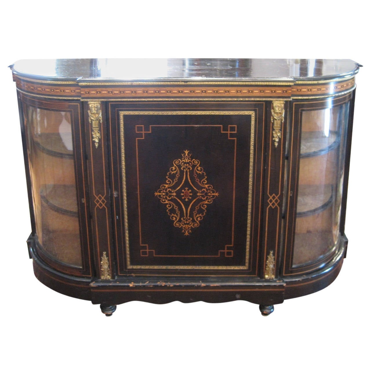 19th Century Inlaid English Sideboard or Buffet
