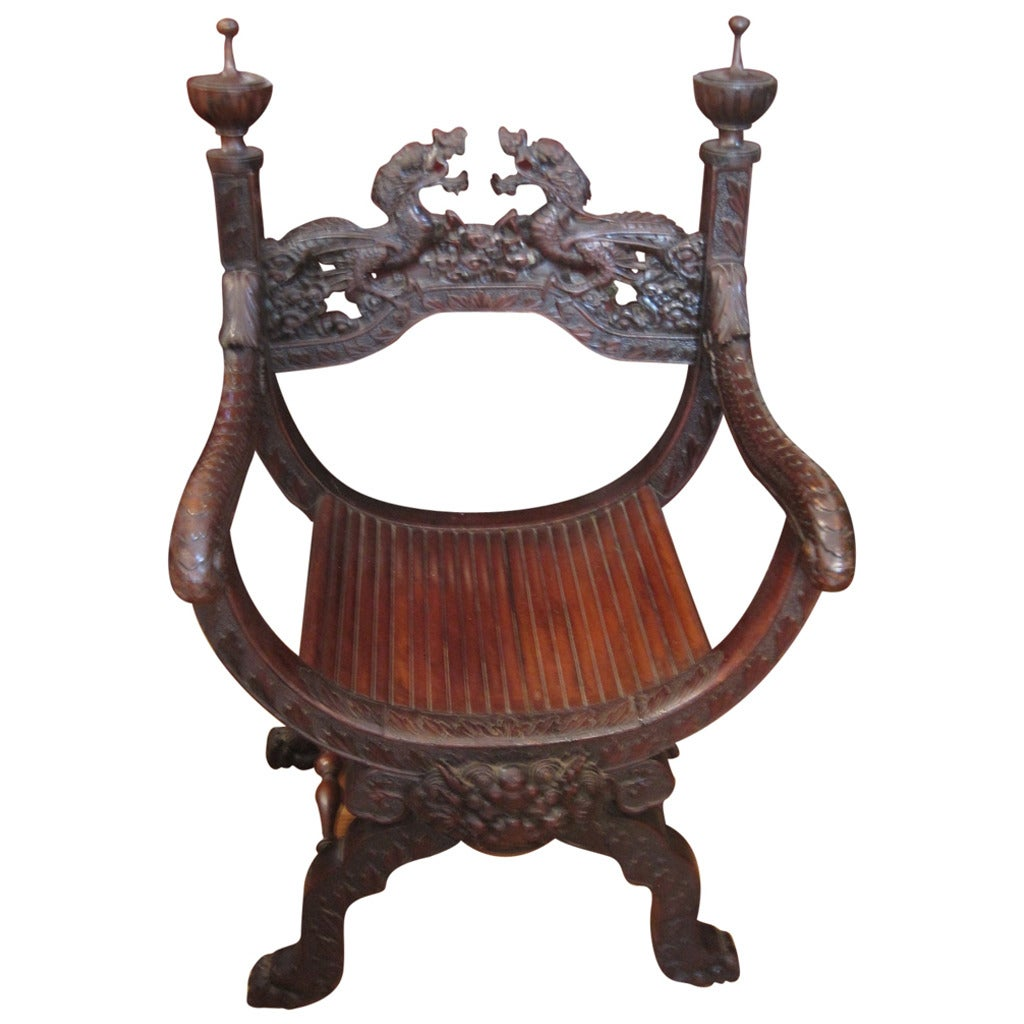 19th Century Chinese Carved Dragon Chair 1 - 19th Century Chinese Carved Dragon Chair At 1stdibs
