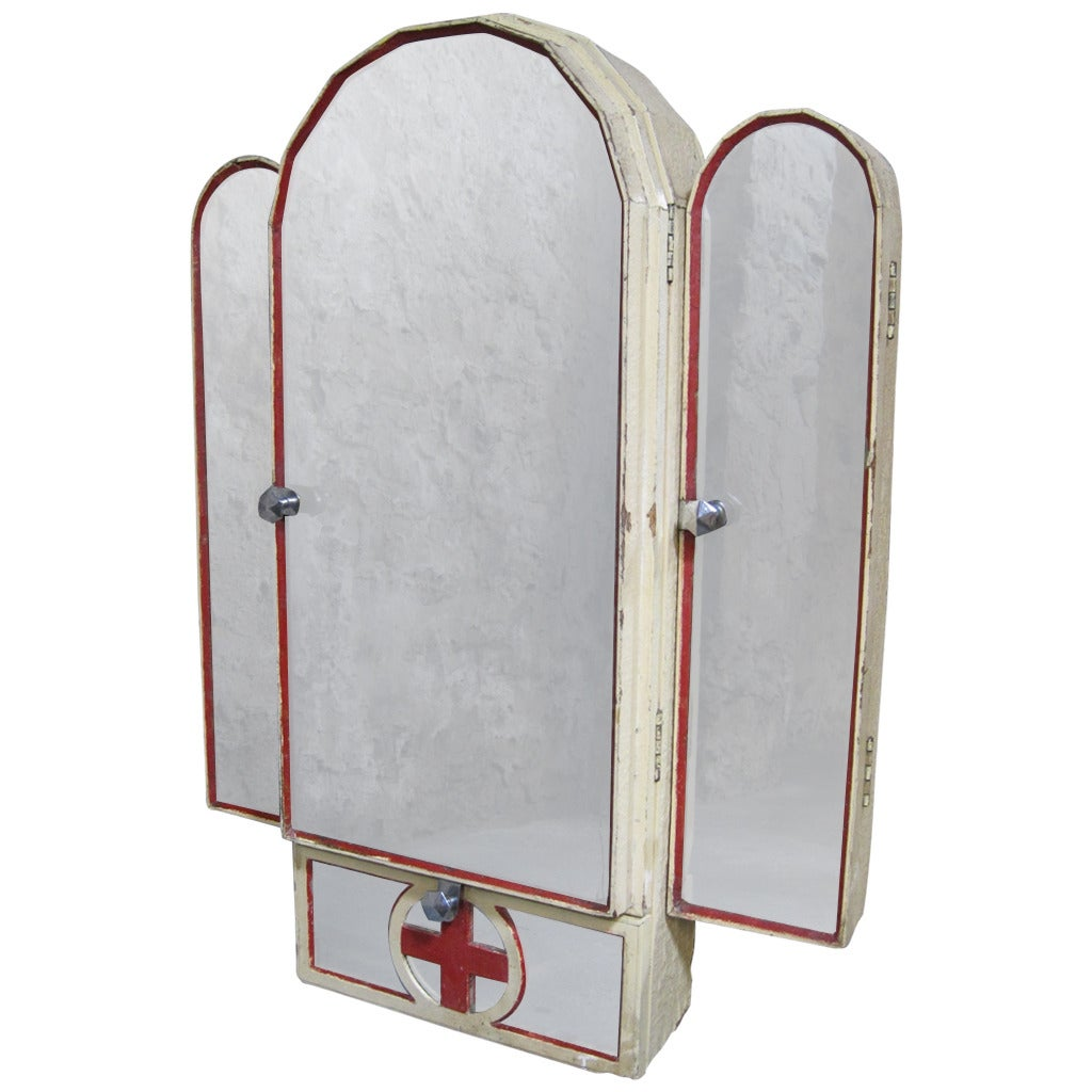 art deco bathroom mirror cabinet deco cross medicine cabinet and mirror at 1stdibs 10759