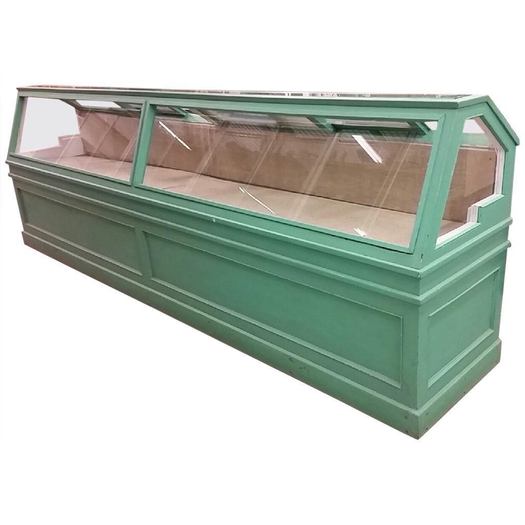 Large Antique Showcase and Store Display