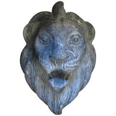 Primitive Wood American Folk Art Lion Carving from Circus Wagon
