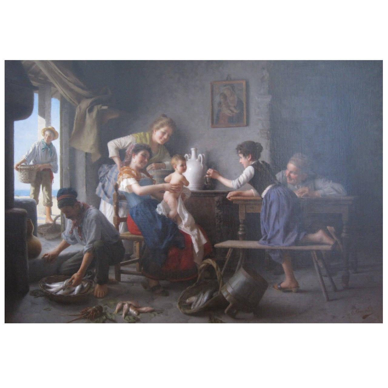 Giovanni Battista Torriglia Painting, Oil on Canvas