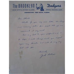 Jackie Robinson Signatures and Personal Letters