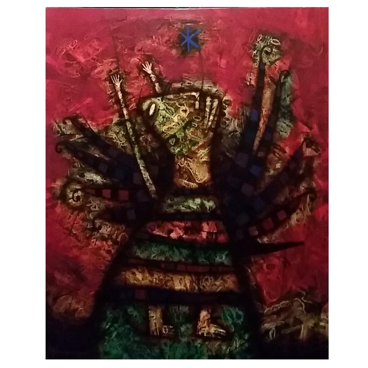 Vladimir Vladimirov Russian Oil on Canvas Painting For Sale