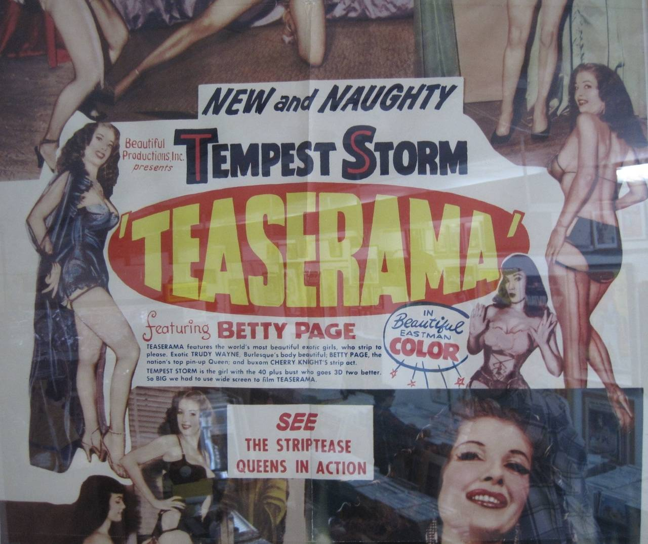 "Burlesque Poster ""Teaserama"" with Betty Page and Tempest ..."