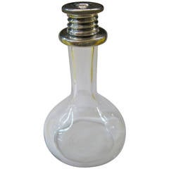 """Eau De Rose"" Bottle with Sterling Silver Top"