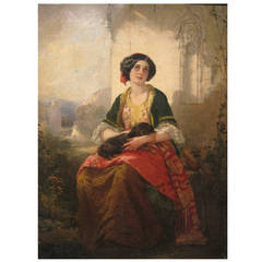Thomas Faed Painting, Oil on Canvas, 19th Century