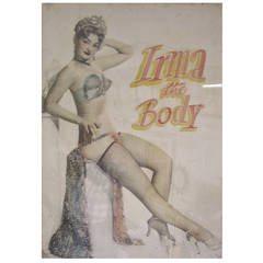 """Irma the Body"" Burlesque Performer Poster"