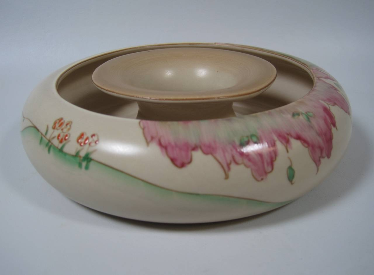 Clarice Cliff Posy Ring Vase At 1stdibs