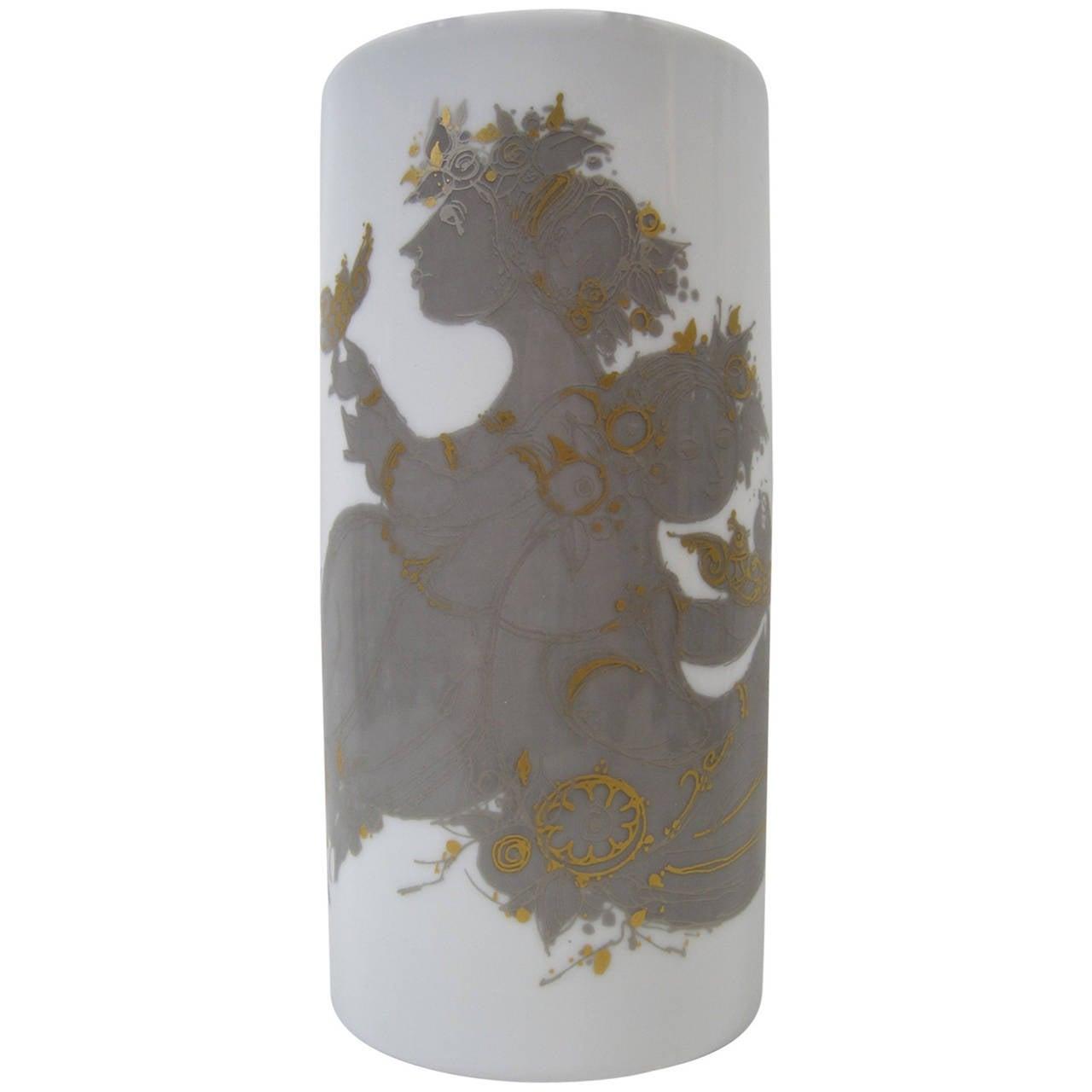 Bjorn Wiinblad Vase by Rosenthal, Mid-Century Modern