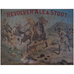 Boer War Era Tin Brewery Advertising Sign