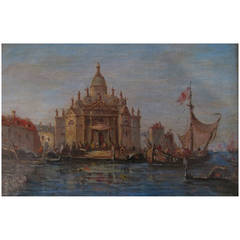 "Alfred August Felix Bachmann Oil Painting, ""Venise"""