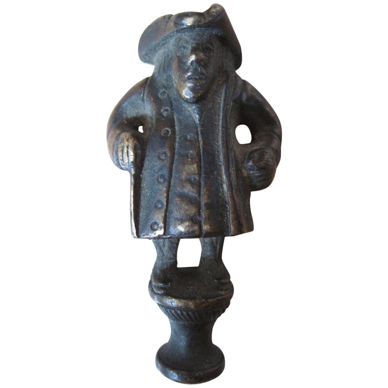 19th Century Bronze Figural Novelty Wax Stamp For Sale