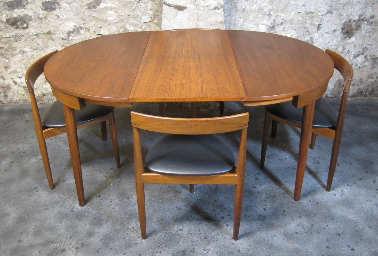 Hans Olsen For Frem Rojle Teak Dining Table And Chairs