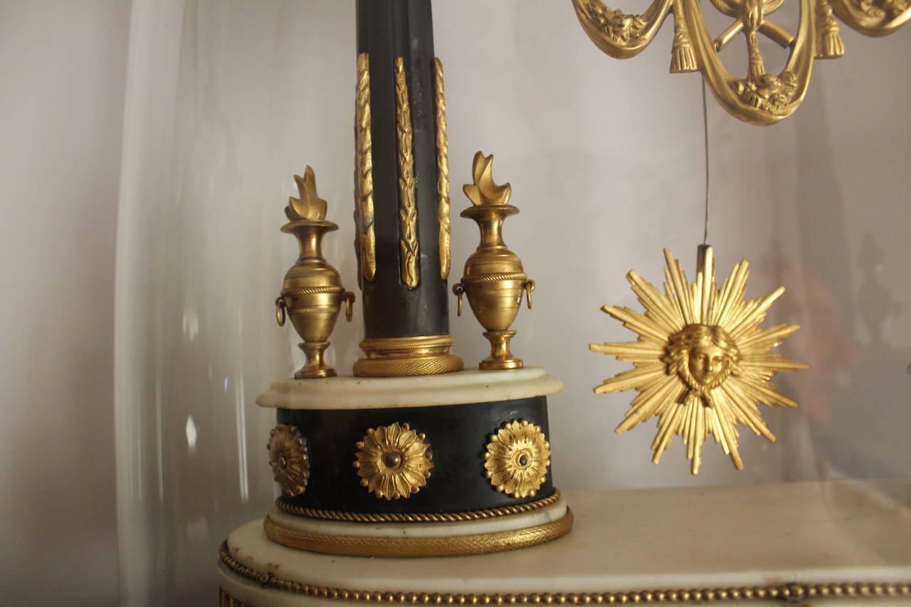 French Empire Period Marble and Ormolu Clock, Early 19th Century For Sale 3