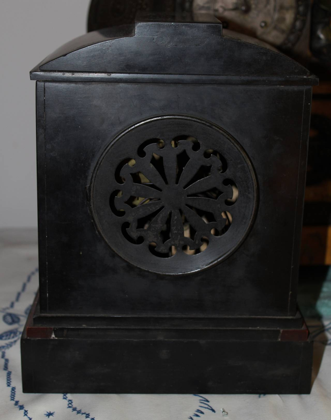 19th Century French Marble Mantel Clock, Louis XVI Style For Sale 1