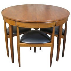 Hans Olsen for Frem Rojle Teak Dining Table and Chairs, Mid-Century Modern