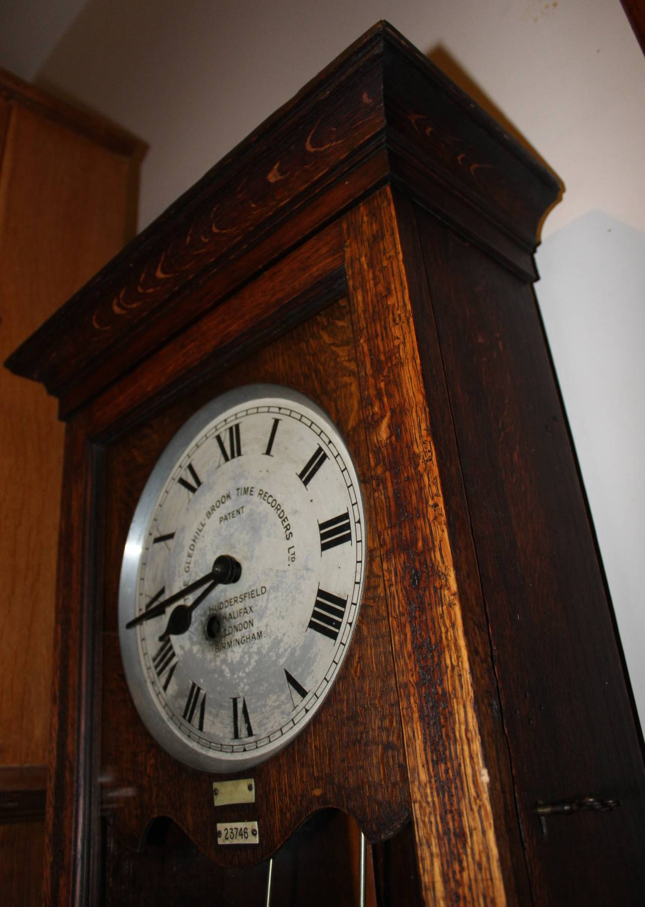 English Time Recorder Clock, Machine Age For Sale 1