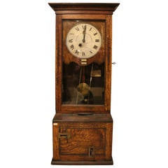 English Time Recorder Clock, Machine Age