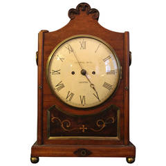 English Bracket Clock, 19th Century William lV Period