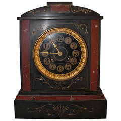19th Century French Marble Mantel Clock, Louis XVI Style