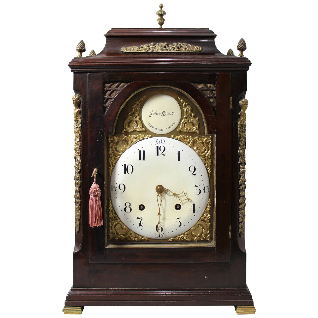 English Bracket Clock, George III Period, 18th Century