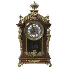 Lenzkirch Bracket Clock in French Louis XVI Style, 19th Century