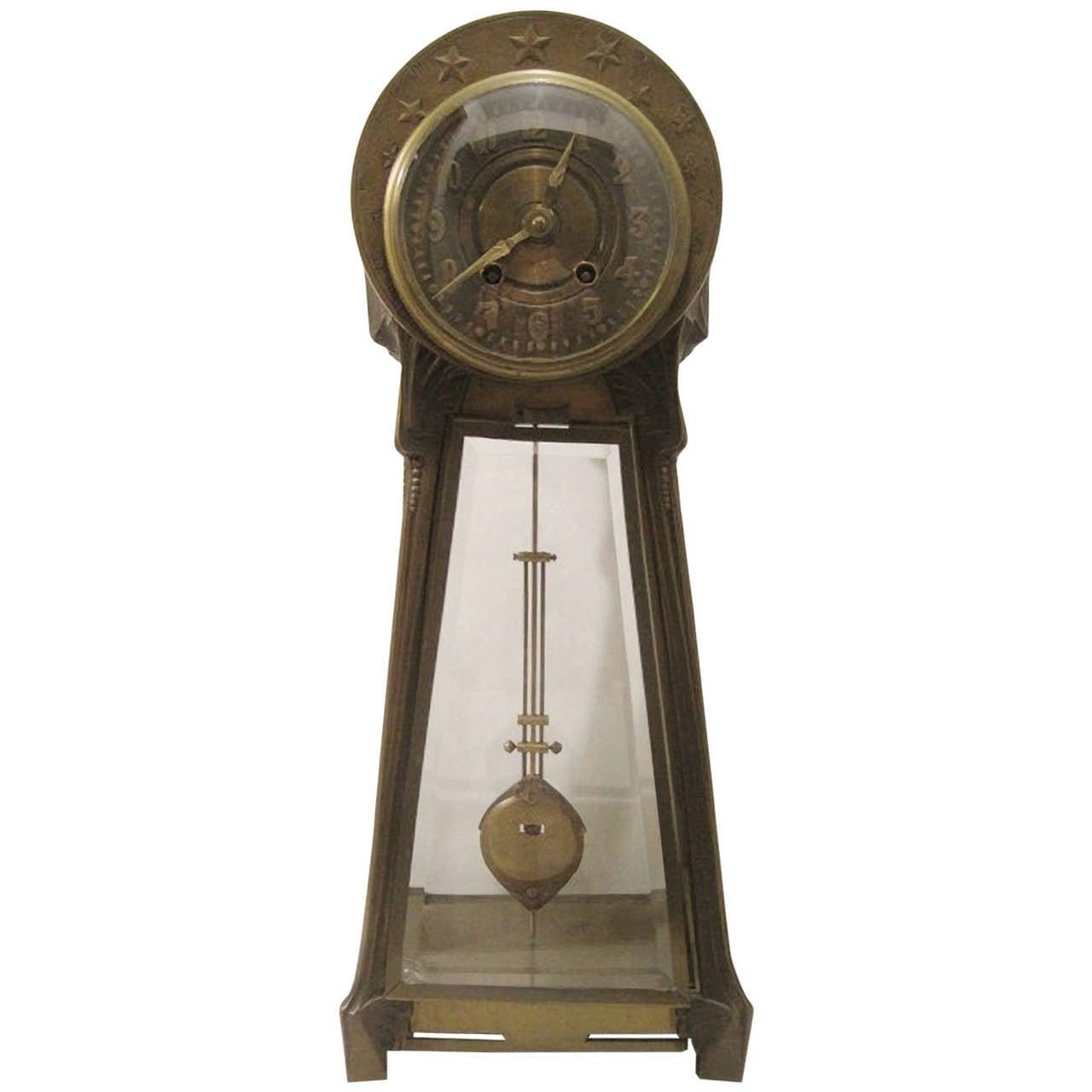 Lenzkirch Mantel Clock, Art Nouveau Jugendstil