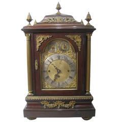 English Bracket Clock, 19th Century Georgian