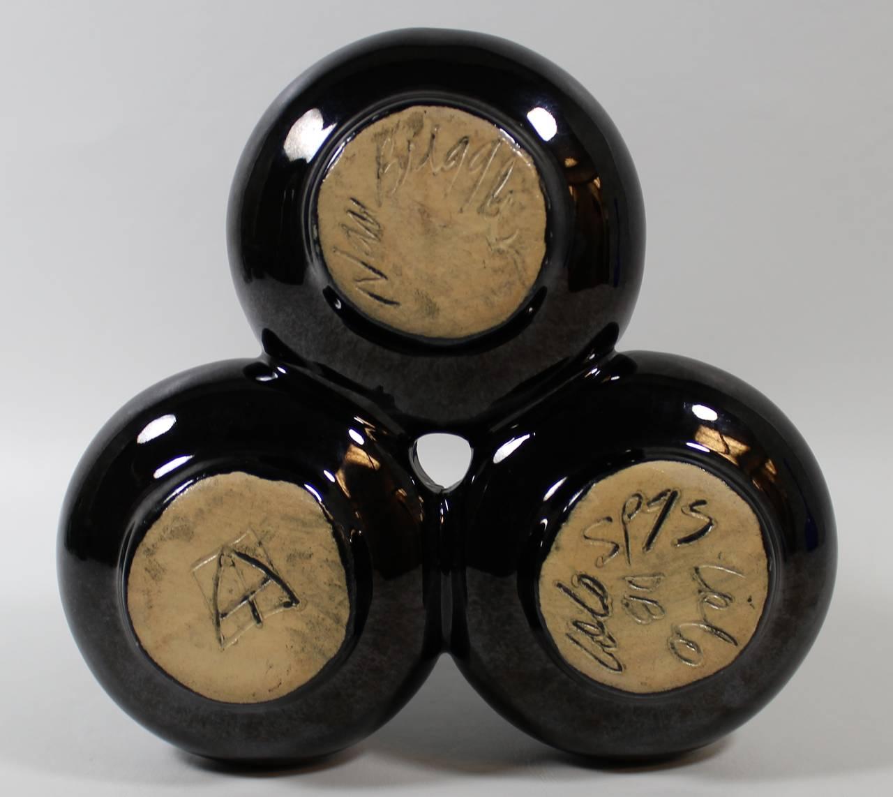 Mid-Century Modern Midcentury Van Briggle Art Pottery Triple Bud Vase For Sale