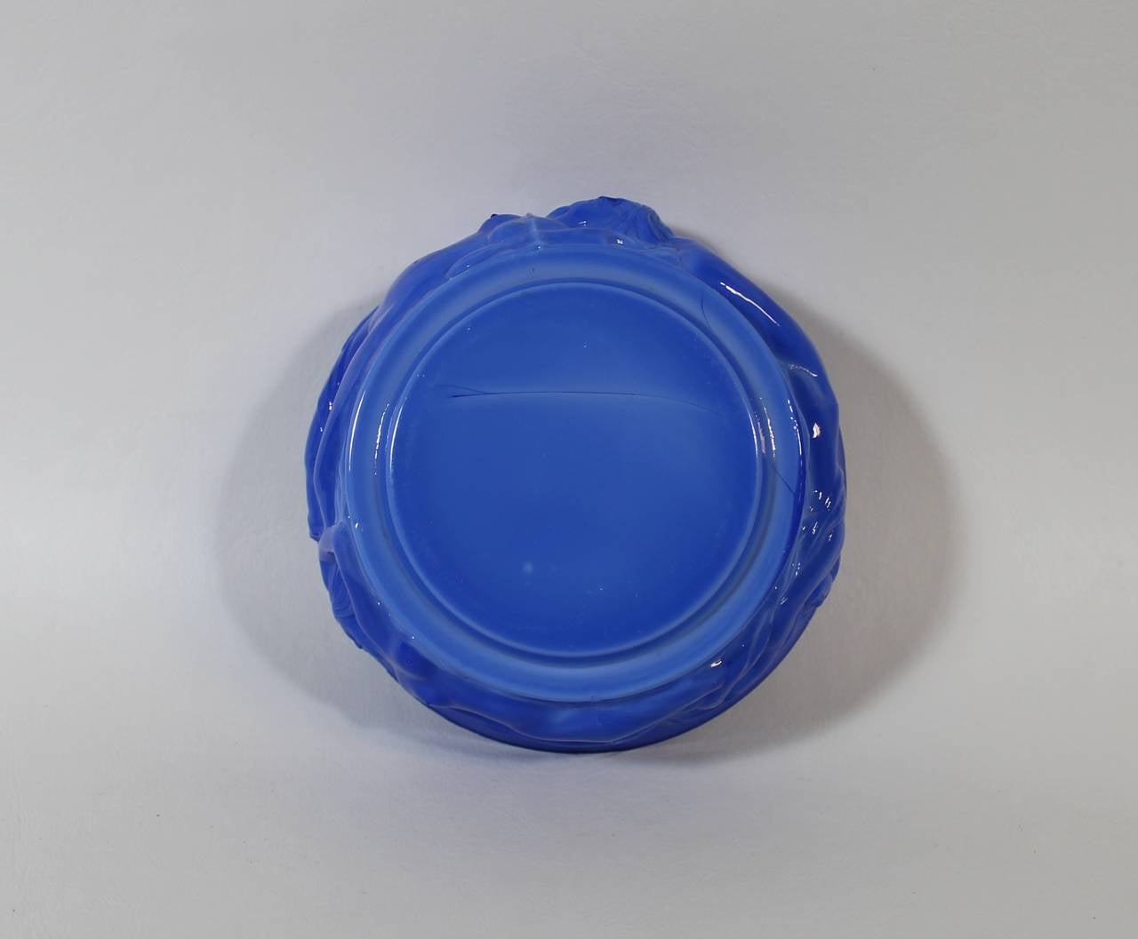 Art Deco Lapis Lazuli Czech Art Glass Nude Jewelry Or -9216