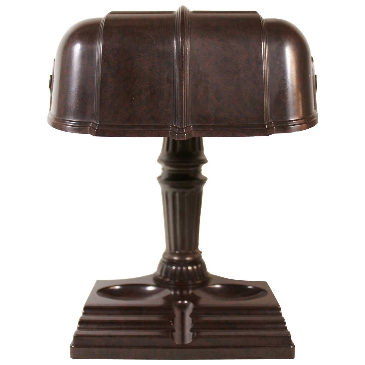 Table Lamps For Desks : Art deco bakelite desk or banker s lamp at stdibs