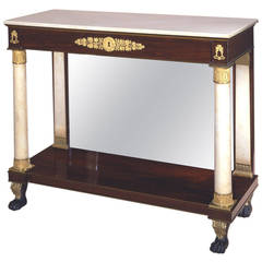 Classical Bronze-Mounted Rosewood and Marble Pier Table, 1815