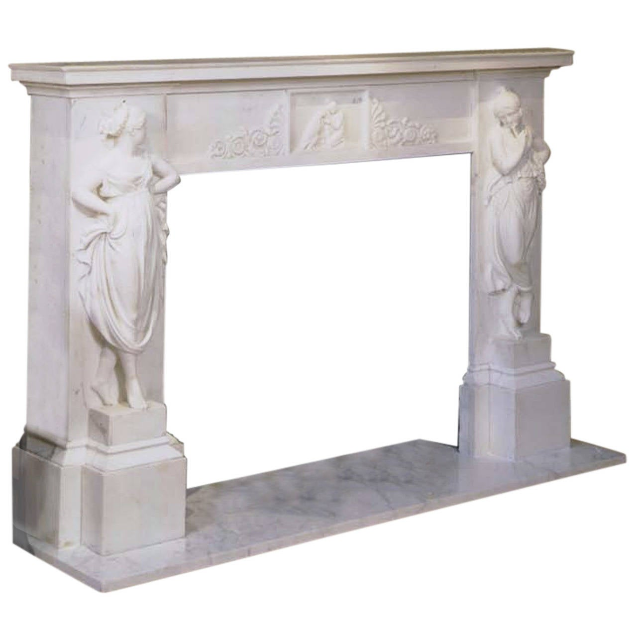 Marble mantel surround, ca. 1820