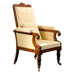 Carved Mahogany Mechanical Armchair, circa 1830