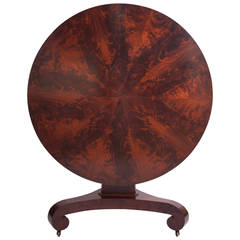 Classical Mahogany Tilt-Top Center Table with Radial Inlaid Top