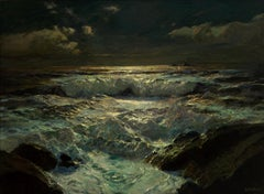 The Longships Light - 19th Century, Oil Paint, Landscape Painting