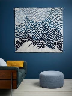 Murmuration - Tufted textile wall hanging by British artist Anna Gravelle