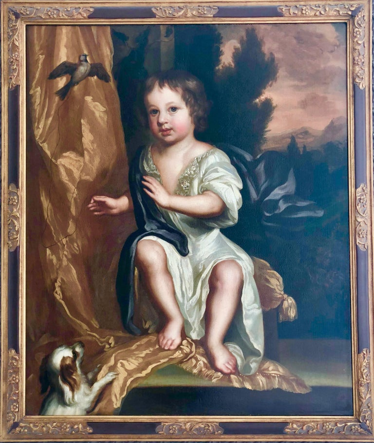 17th Century British Oil Portrait Painting attributed to Mary Beale