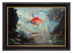 The Ocean Depths - Mid 20th Century Animal Painting by Steven Spurrier