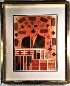 Robert Delford Brown Self Portrait - Late 20th Century, Modern, Mixed Media